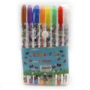 Набір гелевих ручок з глітером 1.0 мм 8 кольорів Метелики Josef Otten DSCN9785-8 (1/18/432)