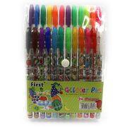 Набір гелевих ручок з глітером та додатковими неоновими кольорами 1.0 мм 24 кольори Фрукти Josef Otten DSCN9792-24 (1/36/144)