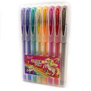 Набір гелевих ручок 0.7 мм 8 кольорів глітер з гумовим тримачем Josef Otten 9838-8