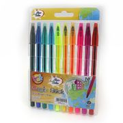 Набір кулькових ручок 1.0 мм 10 кольорів Neon color Beifa AA934-10U