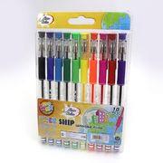 Набір кулькових ручок 1.0 мм 10 кольорів з гумовим тримачем Neon color Beifa AA999-10