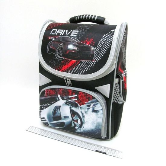 AB-1823 Рюкзак коробка Drive 34*26*14,5см, 3 отд., ортоп., светоотраж. (1)