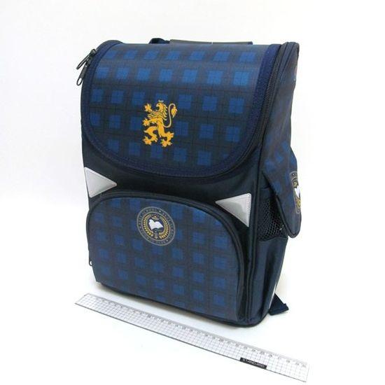 AB-1828 Рюкзак коробка Клеточка 34*26*14,5см, 3 отд., ортоп., светоотраж. (1)