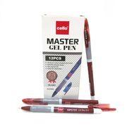 Ручка гелева червона 0.5 мм з гумовим тримачем Master Cello CL-1801