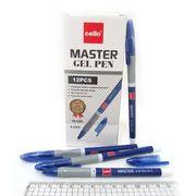 Ручка гелева синя 0.5 мм з гумовим тримачем Master Cello CL-1801