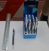 Ручка масляна автоматична синя 0.7 мм Connect Vinson S8