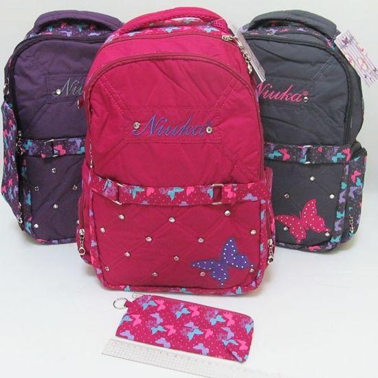 DSCN0576 Рюкзак молодежный Butterfly 17,5 43*30*14см + пенал, mix3 (1)