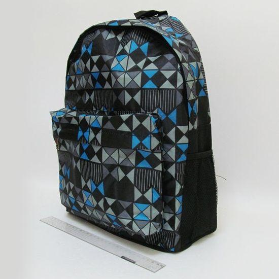 DSCN0608-B Рюкзак с карманом Шахматка 42х30х13см (1)