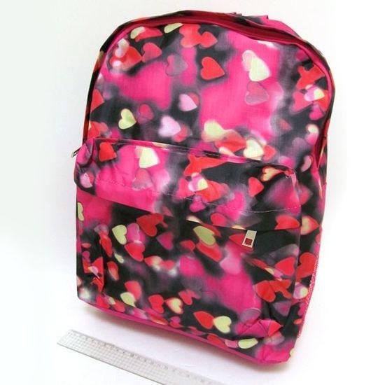 DSCN0616-B-1 Рюкзак с карманом Сердечки, 42х30х13см (1)