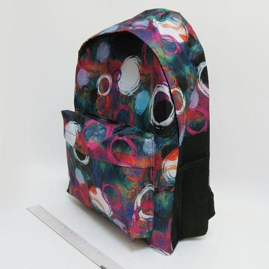 DSCN0617-B-2 Рюкзак с карманом Круги 42х30х13см (1)