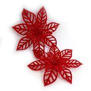 DSCN0631 Ел. украшения Красные цветы 13*13см (800)