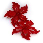 DSCN0634 Ел. украшения Красные цветы D11см 2 шт (1000)