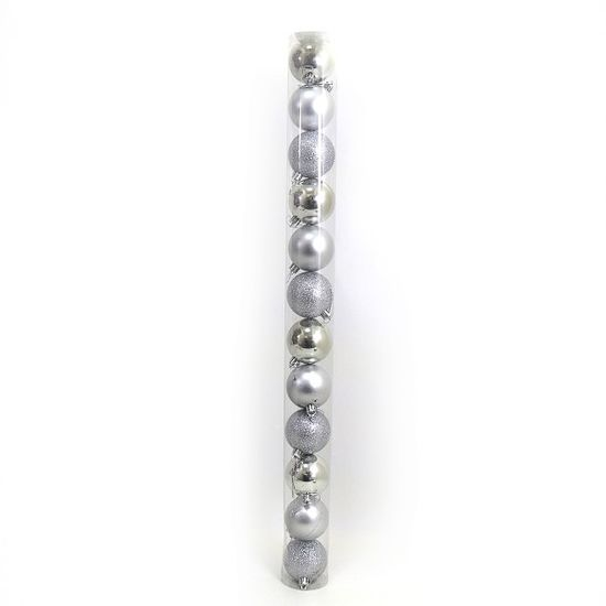 DSCN0922-7 Набор шар. тубус SILVER 7см, 12шт., PVC (56)