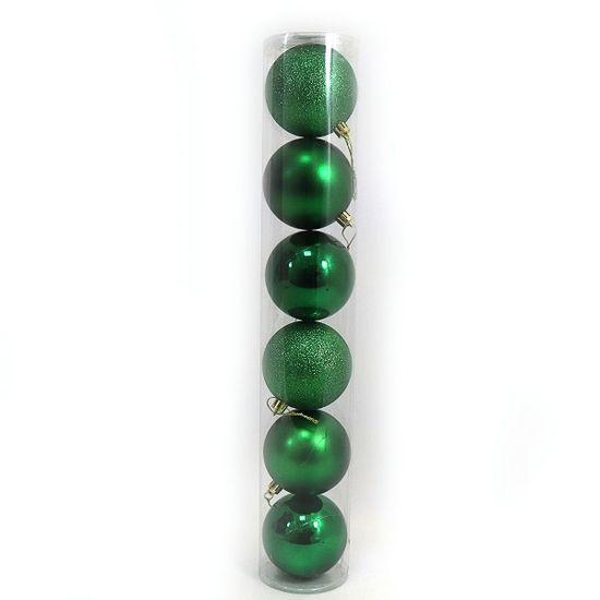 DSCN0922-7 Набор шар. тубус GREEN 7см, 6шт., PVC (56)
