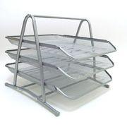 DSCN1087-S Лоток/бумаги метал.горизонт.Сетка 3отделения,серебр,1шт/этикетка (1)