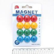 DSCN1570 Магнит д/маг.доски Colours 2см, 12шт.,mix, блистер, 1шт/этик. (200)