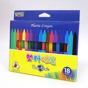 DSCN3833-18 Мелки пластик. восковые Crayons, набор 18 цв. (24)