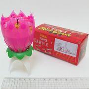 6296 Свеча для торта Flower Candle музыкальная 13см (100)