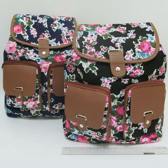 7585 Рюкзак молодежный Розы 36*29*13 см (10)