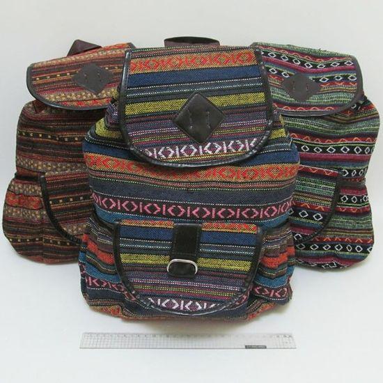 7629 Рюкзак молодежный Узоры 40*28*15 см, mix3 (10)