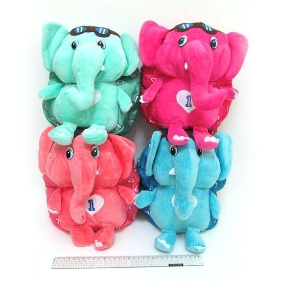 DSCN7889 Рюкзак детск с игрушкой Слоники 25*23*6см, mix4 (1)
