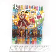 8646 Мелки восковые Crayons Медвежонок, набор 12 цв. PVC (24)