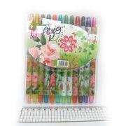 8649 Мелки восковые Crayons Цветы, набор 12 цв. PVC (24)