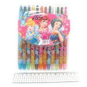 8650 Мелки восковые Crayons PRL, набор 12 цв. PVC (24)