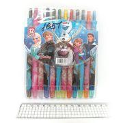 8651 Мелки восковые Crayons FZL, набор 12 цв. PVC (24)