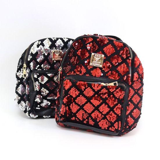 DSCN9611 Рюкзак с пайетками Ромбы  25*20*9,5см (5)