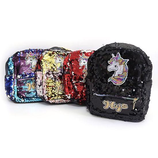 DSCN9614 Рюкзак с пайетками кож зам Единорог 25*20*9,5см, mix4 (5)