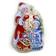 Плакат новорічний Дід Мороз зі Снігуронькою, розмір 31х20 см Josef Otten DSCN9805