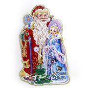 Плакат новорічний Дід Мороз зі Снігуронькою, розмір 45х29 см  Josef Otten DSCN9813