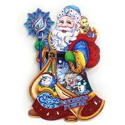 9814 Плакат Дед Мороз с подарками 30см, укр.надпись (10)