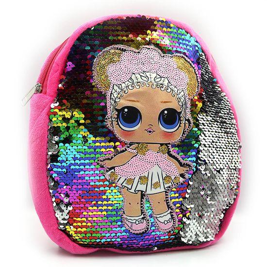 DSCN9861 Рюкзак детск. с пайетками LLL 27*24*5см, без этикетки (10/240)