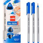 Ручка кулькова синя 1.0 мм трикутний корпус Tri-Tech Cello CL-1003