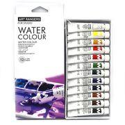 EW1212C-3 Краски акварель Basics пластик туб, 12цв*12мл (48ЯЩ.) 1шт/этик. (6/48)