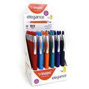Ручка масляна автоматична синя 0.7 мм трикутний корпус Elegance Vinson G2