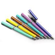 Ручка гелева металева синя 0.5 мм мікс 6 кольорів Baixin GP6013