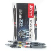 Ручка гелева автоматична чорна 0.5 мм з гумовим тримачем Josef Otten GP-977-BK (GP-265)