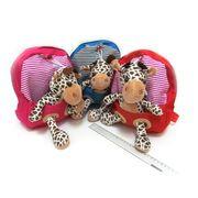 2960 Рюкзак детск с игрушкой Зверушки  25*22*6см, mix3 (5)