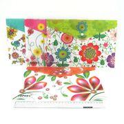 IMG_4179 Папка-конверт с кнопкой Цветы 18S, 33,5*23см, mix, 12шт/этик. (12)