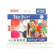 MD-900-6 (IMG4295) Набор красок для лица 6 цветов + кисть (12/192)