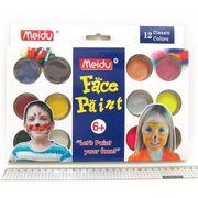 IMG4296-12 Набор красок для лица 12 цветов + 2 кисти + губка (12/96)