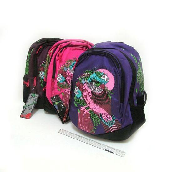 IMG4835 Рюкзак школьный Птица 40*32*14см, mix (5)
