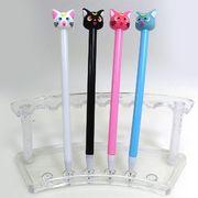 IMG_5170 Ручка детская с игрушкой Кошки гелевая, синяя, mix, 12шт/этик. (12)