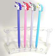 IMG_5180 Ручка детская с игрушкой Unicorn гелевая, синяя, mix, 12шт/этик. (12)