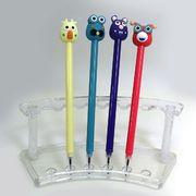 IMG_5187 Ручка детская с игрушкой Птички гелевая, синяя, mix, 12шт/этик. (12)