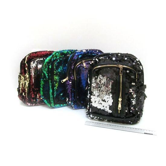 IMG-8546 Рюкзак с пайетками Style 28*22*11см, mix (10)