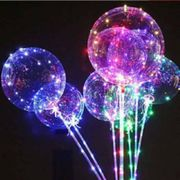 IMG_3779 (10шт/уп) Шар прозрачный светящийся 18 (шар+пал.0,8м+свет.лента) (10)